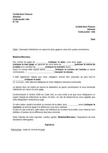 Modele bail commercial avec pacte de preference document for Annulation offre d achat maison