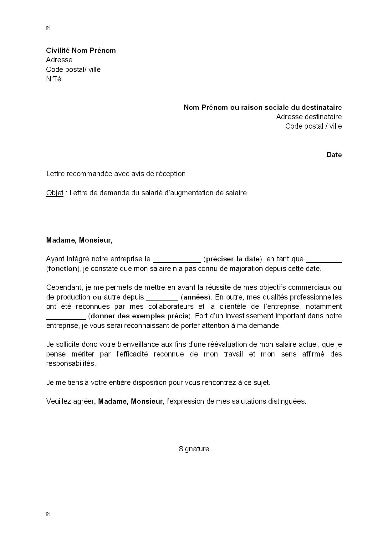 modele lettre demande d u0026 39 emploi