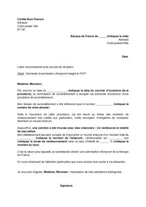 Lettre De Demande D Autorisation D Emprunt A La Banque De France