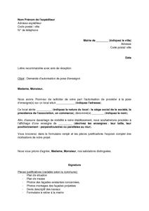 Exemple Gratuit De Lettre Demande Autorisation Pose Enseigne