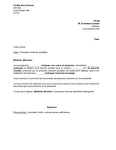 Modele de courrier pour la securite sociale for Cpam changement d adresse