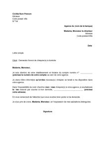 Lettre de demande d 39 envoi de ch quiers domicile mod le de lettre grat - Document pret immobilier ...