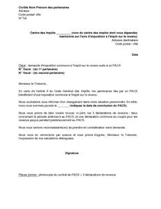 Exemple Gratuit De Lettre Demande Imposition Commune A Impot Sur