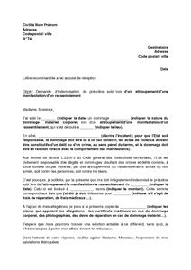 Modele Lettre Contestation Indemnisation Assurance Corporel