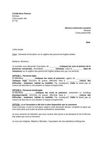 Lettre de demande d 39 inscription sur le registre des for Inscription d et co