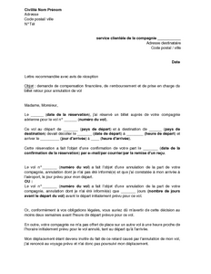 lettre demande de prise en charge