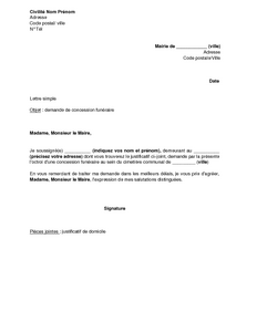 exemple de courrier au maire