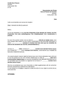 exemple de lettre pour huissier modele lettre huissier delai paiement exemple de lettre pour huissier