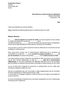 Modele De Lettre Credit Sicilfly