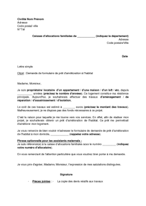 Document Demande De Pret Immobilier Caf