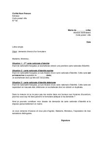 Exemple De Lettre De Procuration Carte D'identité | Covering Letter Example