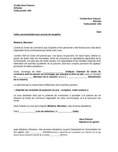 lettre de demande de l 39 accord du conjoint cession des l ments du fonds de commerce mod le de. Black Bedroom Furniture Sets. Home Design Ideas