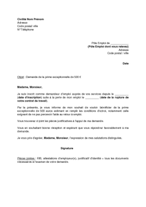 modele lettre de motivation pole emploi