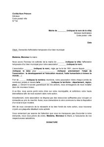 exemple lettre de motivation pour mairie