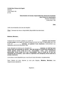 lettre type demande de retraite fonction publique