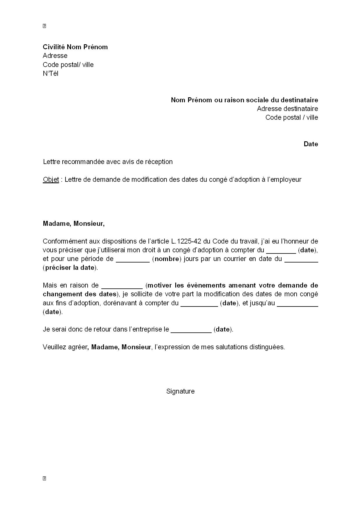 exemple de la lettre administrative demande d u0026 39 emploi