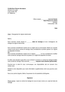 Exemple gratuit de Lettre demande modification régime ...