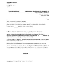 Exemple gratuit de Lettre demande prorogation délai ...