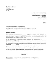 application letter sle modele de lettre de demande d une carte bancaire