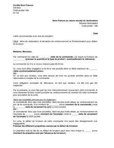 Application letter sample exemple de lettre de demande d 39 indemnisation - Lettre de demande de remboursement ...