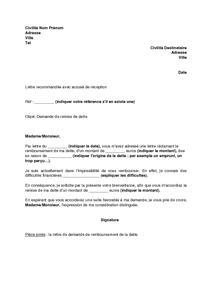 Lettre De Demande De Remise De Dette Mod 232 Le De Lettre