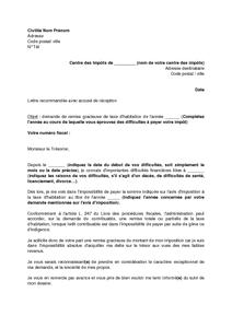 lettre demande d aide financiere