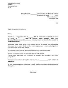 Exemple Gratuit De Lettre Demande Rendez Vous Et Devis Authentifier
