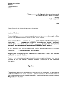 document pension alimentaire