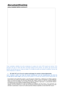 05f518782b0 Exemple gratuit de Lettre demande rupture anticipée CDD par salarié ...