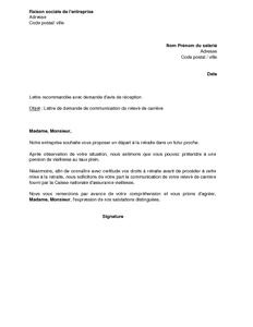 lettre type depart en retraite pour employeur