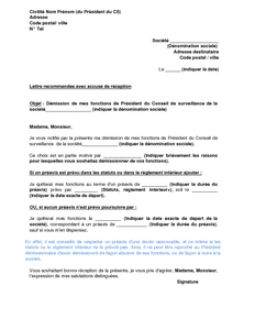 lettre de demission association president