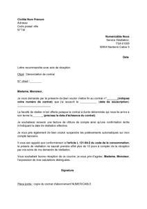 Lettre De Denonciation Du Contrat D Abonnement Numericable Refus De La Tacite Reconduction Au Terme Du Cdd Modele De Lettre Gratuit Exemple De Lettre Type Documentissime