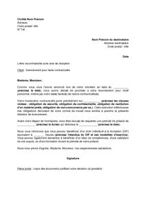 Exemple Lettre De Demission Remise En Main Propre Contre Decharge