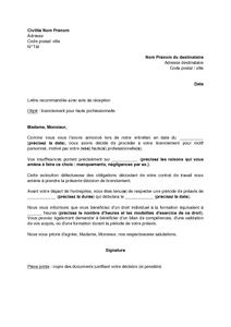 82010999d76 Exemple lettre licenciement faute grave