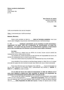 Exemple lettre remise en main propre contre décharge