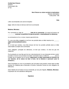 Sample Cover Letter: Exemple De Lettre De Mise En Demeure Gratuit