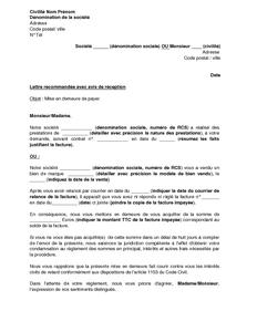 Lettre de mise en demeure de payer une facture mod le de lettre gratuit ex - Meubles mise en demeure ...