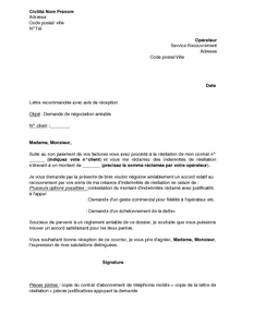 Lettre De Negociation Amiable De L Indemnite De Resiliation Au