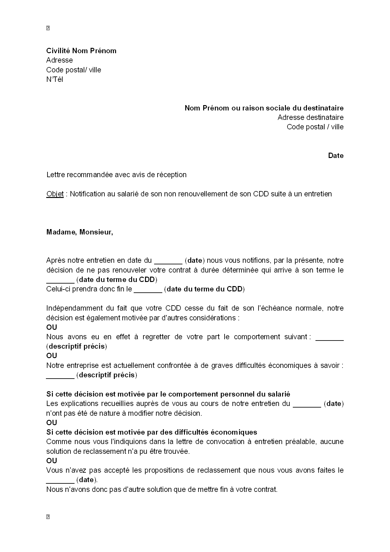 lettre motivation cdi apres cdd