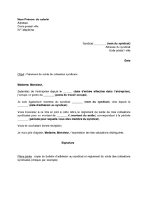lettre resiliation syndicat