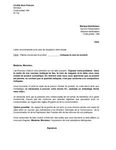 Exemple gratuit de lettre plainte aupr s service for Exemple contrat entretien espaces verts