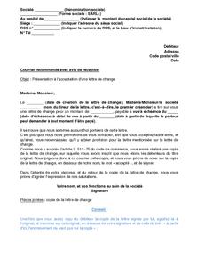 Lettre de présentation d'une lettre de change à l'acceptation du tiré - modèle de lettre gratuit ...