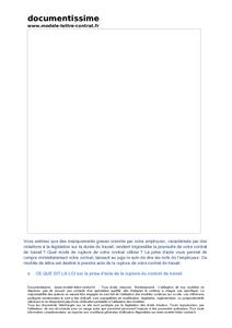Modele lettre non respect contrat document online for Contrat type entretien espaces verts