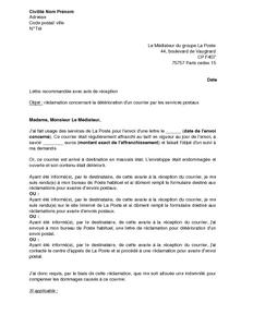 Lettre de motivation mediateur employment application - La poste suivi du courrier demenagement ...