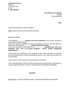 Lettre De Recours Gracieux Aupr 232 S Du Recteur De L Acad 233 Mie