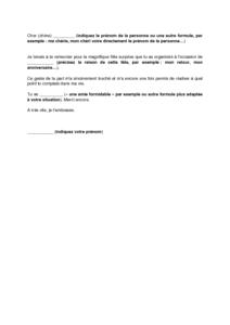 lettre de remerciement pour fin de contrat cdd