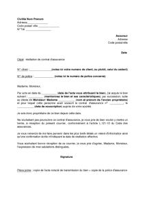 Lettre De Resiliation D Un Contrat D Assurance Suite A Heritage D Un Bien Assure Modele De Lettre Gratuit Exemple De Lettre Type Documentissime
