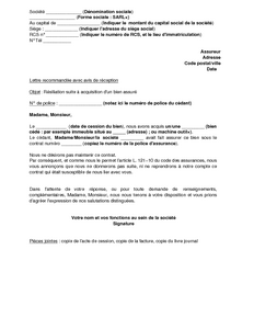 Modele resiliation contrat location document online - Modele de lettre de demande de location de garage ...