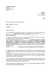 Modèle De Lettre De Résiliation De Contrat De Complémentaire