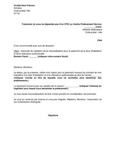 Exemple Gratuit De Lettre Resiliation Option Paiement Par